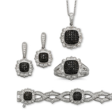 jcpenney.com | 1/5 CT. T.W. White & Color-Enhanced Black Diamond 4-pc. Jewelry Set
