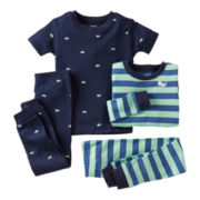 Carter's® 4-pc. Whale Pajama Set - Boys 12m-24m