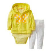 Carter's® 3-pc. Butterfly Hoodie Set - Girls newborn-24m