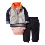 Carter's® 3-pc. All-Star Hoodie Set- Boys newborn-24m