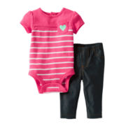 Carter's® Striped Bodysuit Pant Set - Girls newborn-24m