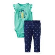 Carter's® Seahorse Bodysuit Pant Set - Girls newborn-24m