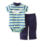 Carter's® Whale Bodysuit Pant Set - Boys newborn-24m