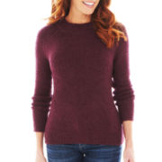 Liz Claiborne Long-Sleeve Bouclé Wool Sweater