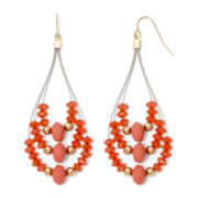 Mixit™ Orange Seed bead Teardrop Earrings