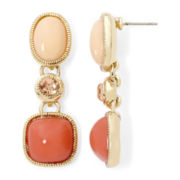 Monet® Coral Gold-Tone Earrings