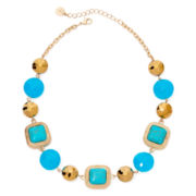 Monet® Gold–Tone Multi-Beaded Collar Necklace