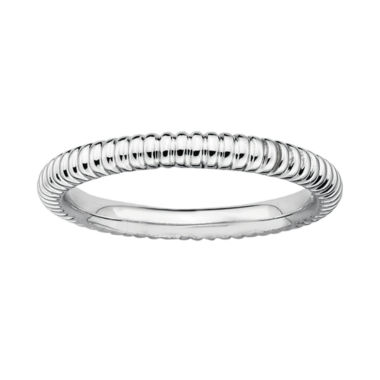 jcpenney.com | Personally Stackable Sterling Silver 2mm Ribbed Ring