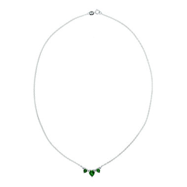jcpenney.com | Lab-Created Emerald & Diamond-Accent Heart-Shaped 3-Stone Necklace