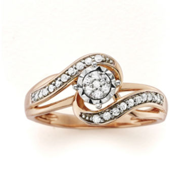 jcpenney.com | 1/5 CT. T.W. Diamond 10K Rose Gold Promise Ring