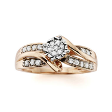 jcpenney.com | 1/4 CT. T.W. Diamond 10K Rose Gold Promise Ring