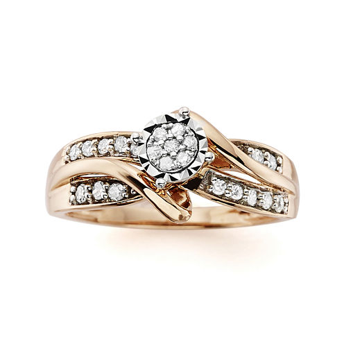 1/4 CT. T.W. Diamond 10K Rose Gold Promise Ring