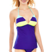 Arizona Colorblock Halterkini Swim Top - Juniors