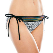 L'Amour by Nanette Lepore Embroidered Hipster Swim Bottoms - Juniors