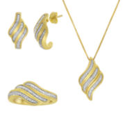 1/10 CT. T.W. Diamond Boxed 3-pc. Swirl Jewelry Set