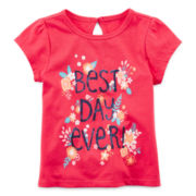 Arizona Short-Sleeve Graphic Knit Tee – Girls 3m-24m