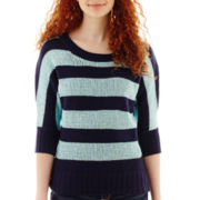 by&by 3/4-Sleeve Striped Sweater