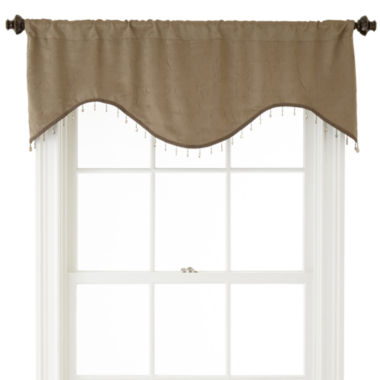 jcpenney.com | Home Expressions™ Cassidy Scalloped Rod-Pocket Crushed Valance