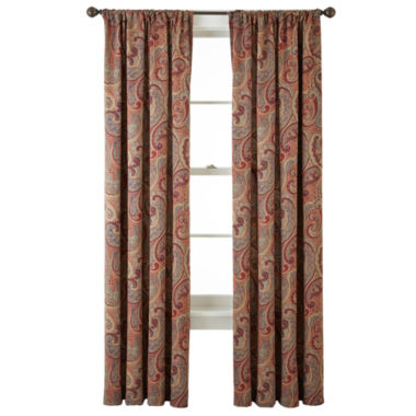 jcpenney.com | Home Expressions™ Wynnewood Room-Darkening Rod-Pocket Crushed Curtain Panel
