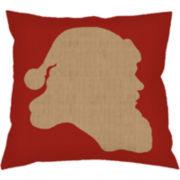 Santa Profile Decorative Pillow