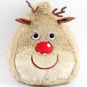 Reindeer Kiss Decorative Pillow
