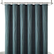 Studio™ Canvas Geometric Stripe Shower Curtain