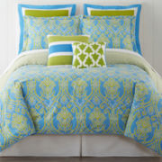Happy Chic by Jonathan Adler Claire 3-pc. Reversible Comforter Set & Accessories