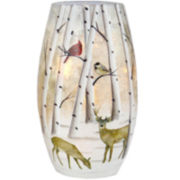 Handpainted Frosted Glass Accent Lamp