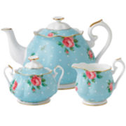 Royal Albert® Polka Blue Vintage 3-pc. Teapot Set