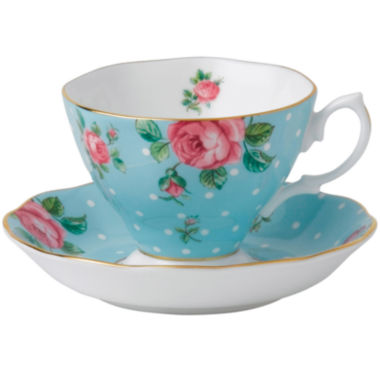 jcpenney.com | Royal Albert® Polka Blue Vintage Teacup and Saucer Set