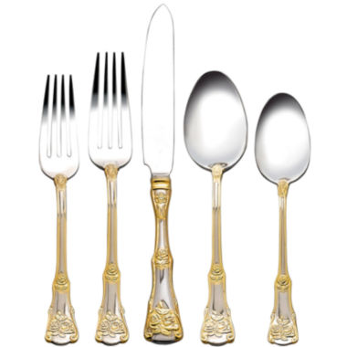 jcpenney.com | Royal Albert® Old Country Roses 20-pc. Flatware Set