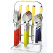 Cambridge® Temptation 16-pc. Flatware Set + BONUS Storage Rack