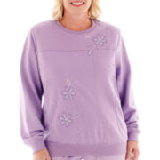 Alfred Dunner® A Fine Romance Long-Sleeve Embroidered Top - Plus