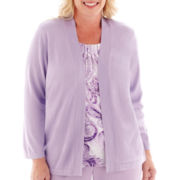 Alfred Dunner® A Fine Romance 3/4-Sleeve Paisley Layered Top - Plus