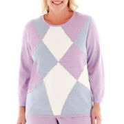 Alfred Dunner® A Fine Romance 3/4-Sleeve Colorblock Top - Plus
