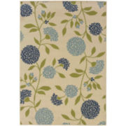 Pom Pom Flowers Rectangular Rug