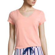 Liz Claiborne® Short-Sleeve V-Neck Sleep Tee