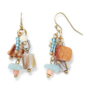 Aris by Treska Multicolor Bead Shower Earrings