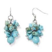 Aris by Treska Simulated Turquoise Nugget Cluster Earrings