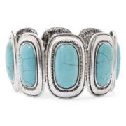 Aris by Treska Aqua Stone Crystal Stretch Bracelet
