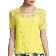 Decree® Short-Sleeve Lace T-Shirt