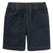 Okie Dokie® Pull-On Denim Shorts - Toddler Boys 2t-5t