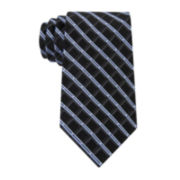 Claiborne® Shadow Grid Silk Tie