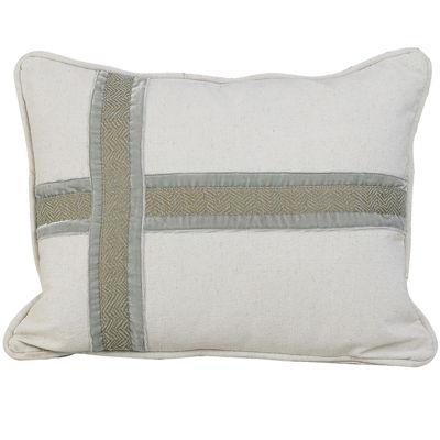 HiEnd Accents Arlington Cross Design Decorative Pillow