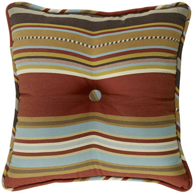HiEnd Accents Calhoun Striped Square Decorative Pillow