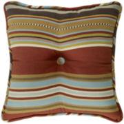 HiEnd Accents Calhoun Striped Square Decorative Pillow