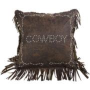 HiEnd Accents Calhoun Cowboy Square Decorative Pillow