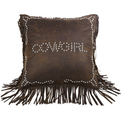 HiEnd Accents Calhoun Cowgirl Square Decorative Pillow