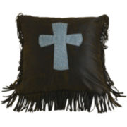 HiEnd Accents Cheyenne Cross Square Decorative Pillow
