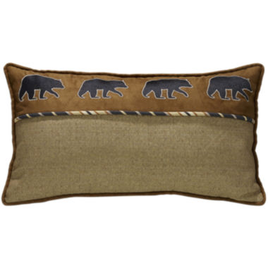 jcpenney.com | HiEnd Accents Ashbury Bear Oblong Square Decorative Pillow